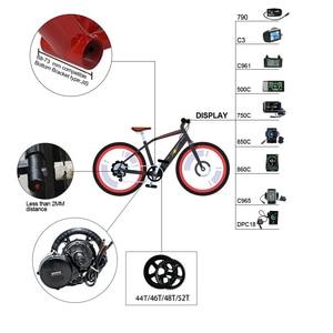 Image 5 - 48V750W Bafang/8fun BBS02B Mitte Kurbeltrieb Motor Kits Eletric Fahrrad Ebike Kits MM G 340,750 10Ah 14Ah 17Ah samsung Batterie