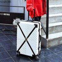 KLQDZMS 20''24''26''29 Zoll PC Leichte Bunte Roll Gepäck ABS Kabine Roll Personalisierte Koffer