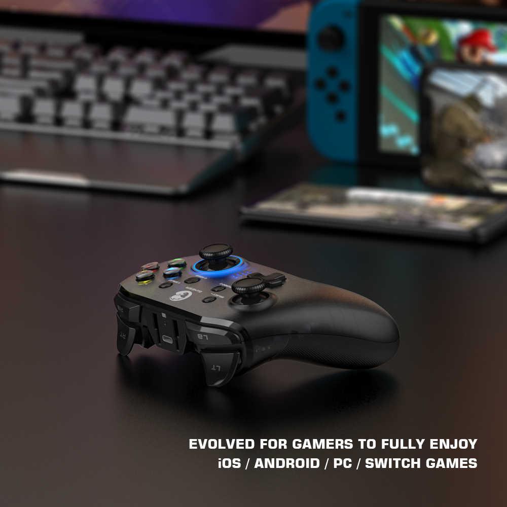 Manette de jeu sans fil GameSir T4 Pro Bluetooth 2.4GHz s'applique aux jeux d'arcade et MFi de Nintendo Switch