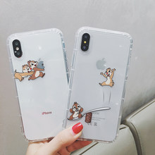 Fundas de teléfono de dibujos animados Chip 'n'dale para iphone X funda para iphone 11 Pro Max para iphone Xr Xs Max 6 funda de 6s 7 8Plus(China)