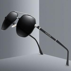 Image 3 - KATELUO 2020 Classic Mens Military Quality Sunglasses Polarized UV400 Sun Glasses For Men Pilot Glasses for Driving 6603