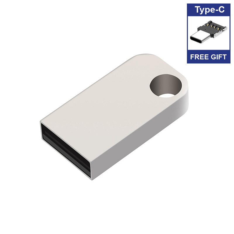 Image 3 - Free Type C adapter Pure Mini USB Flash Drives metal pendrive usb flash stick memory card 4GB 16GB 32GB 64GB 128gb 256gb 512gb-in USB Flash Drives from Computer & Office