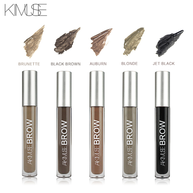 KIMUSE Eye Eyebrow Gel Makeup Tattoo Eyebrows in 2 Mins Black Brown Tint Waterproof Eyebrow Makeup Gel Eyebrow Pencil 4