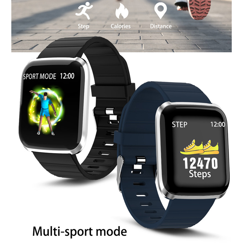 DeaGea 116Pro Smartwatch With Pulse Monitor Pedometer Alarm Reminder Smart Life Assistant Wrist Watch Waterproof ip67 PK Fitbits