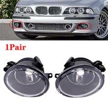1 paio nero paraurti auto fendinebbia alloggiamento laterale guida sicura copertura della lampada accessori per BMW E46 serie 3 M3 01 05 E39 M5 95 04