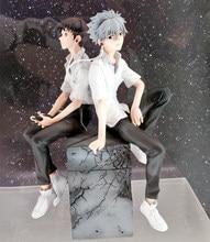 Orijinal 2 adet Nagisa Kaworu + Ikari Shinji Anime şekilli kalıp 18cm EVA 3.0 edebilirsiniz (değil) gelişmiş oyuncak aksiyon figürleri heykeli