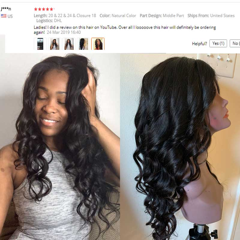 Sunber Hair Peruvian Body Wave Hair Bundles With Closure Remy Human Hair Weaves 3 Bundles With Closure Double Machine Hair Weft in 3 4 Bundles with Closure from Hair Extensions Wigs