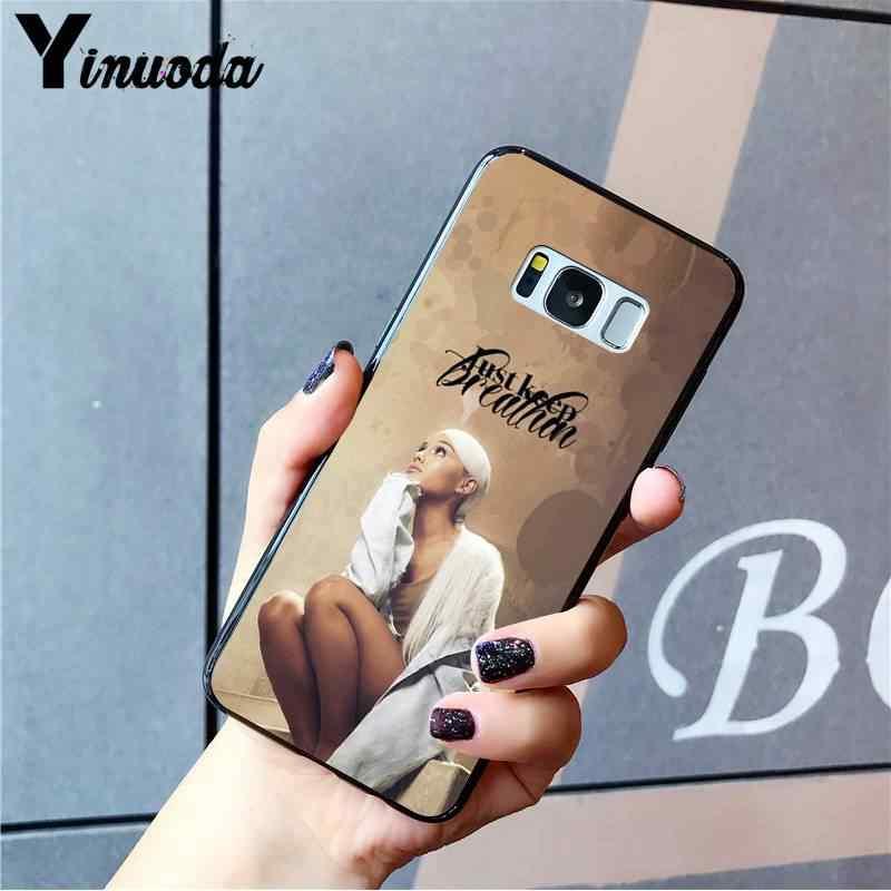 Yinuoda Ariana Grande AG Arco Iris edulcorante de silicona suave teléfono negro Funda para Samsung A8Plus 2018 9 920 10S 20S 10 40 20 30 50