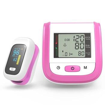 BOXYM Medical Digital Wrist Blood Pressure Monitor Sphygmomanometer Finger Pulse Oximeter SpO2 Saturation Meter Family Health 2
