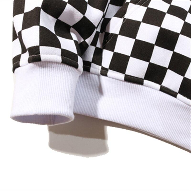 Bebovizi 2019 Mens Hip Hop Hoodie Sweatshirt Checkerboard Plaid Hoodie Streetwear Harajuku Fleece Hooded Pullover Hipster in Hoodies amp Sweatshirts from Men 39 s Clothing