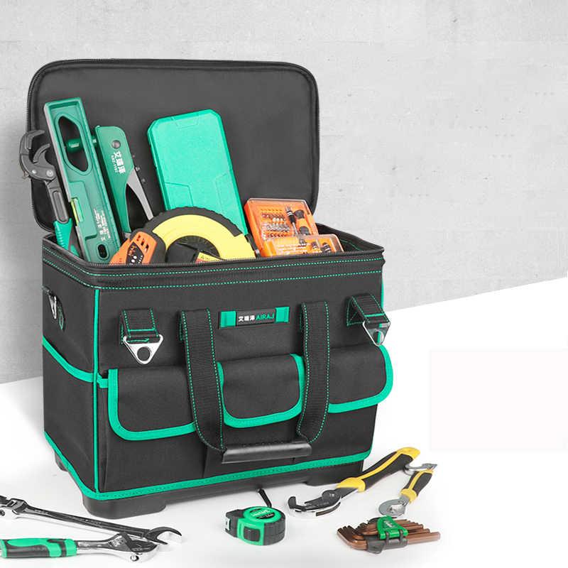 AIRAJ podnosząca torba na narzędzia wodoodporna i odporna na zużycie antypoślizgowa gumowy spód przechowywanie narzędzi torba do trudnych warunków podstawa narzędzia