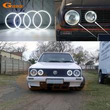 SMD Ultra luminoso LED Angel Eyes halo rings kit Day Light accessori auto per Volkswagen VW Golf Mk1 Mk2 GTI Twin faro