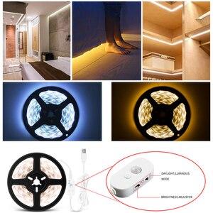 LEADLY Motion Sensor Bed Light Flexible LED Strip Motion Sensor Night Light Bedside Lamp LED 3 Mode Motion Flexible LED Strips