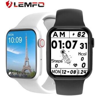 LEMFO DT100 Plus Better Than W37 Smartwatch Women Smartwatch iwo 13 pro Bluetooth Call Heart Rate Monitor Smart Watch Men 1