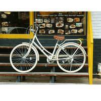 Bicicleta de carretera Retro de 26 pulgadas y 7 velocidades para mujer adulta, bicicleta de paseo con luz clásica nostálgica de acero al carbono para mujer