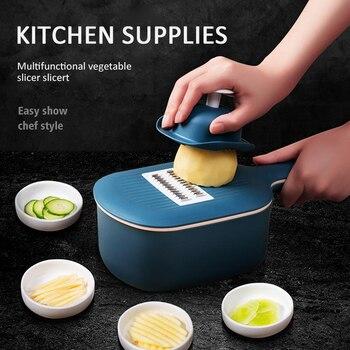 Hortalizas utensilios para cortar herramientas de la Cocina Comida fruta rallador de ensalada de cebolla patata mandolina Slicer accesorios de cocina