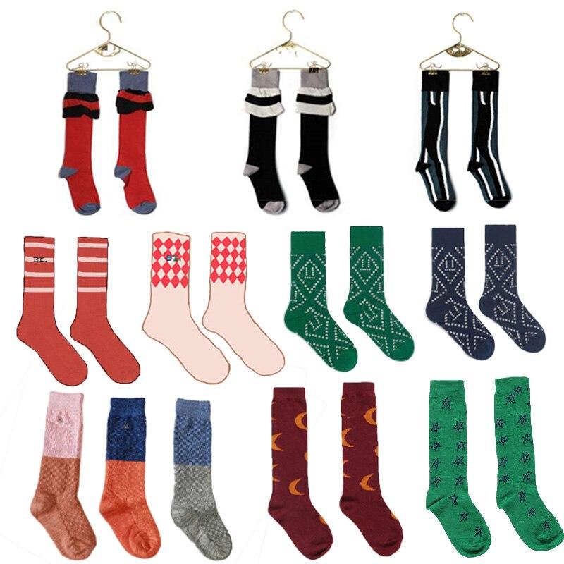 2021 Autumn Winter Baby Newborn Toddler Knee High Floor Sock Kids Geometric Socks  Boys Girls Cotton Tube Socks Bebes New Design 1