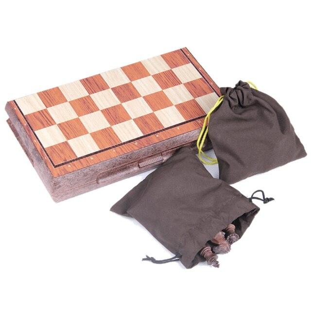 Tableau magnétique tournoi voyage Portable jeu d'échecs nouveau échecs plié conseil International magnétique jeu d'échecs jouant cadeau S 3