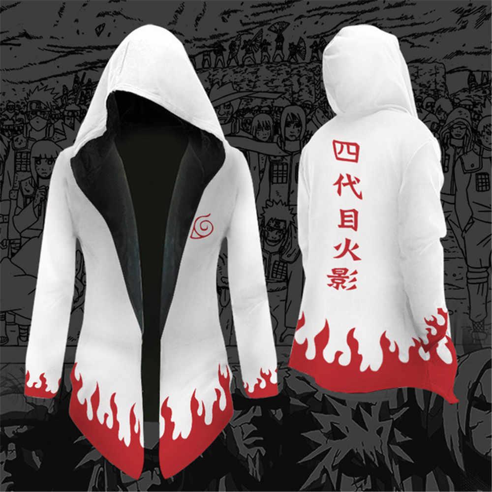 Anime Naruto Uzumaki Naruto Hatake Kakashi Uchiha Sasuke Soldaat Cosplay Kostuum Mannen Vrouwen Hooded Trenchcoat Jas Sweatshirt