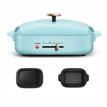 Korean Multi-functional Cooking Pot Barbecue Oven Electric Barbecue Chafing Hot Pot One ins Pot