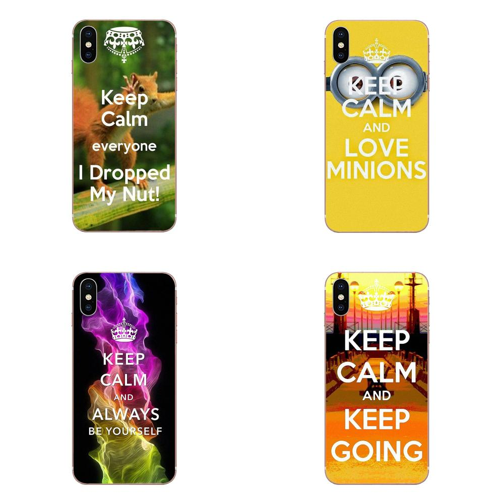 TPU Cell Bags For Xiaomi Redmi Note 2 3 3S 4 4A 4X 5 5A 6 6A Pro Plus Keep Calm Don image