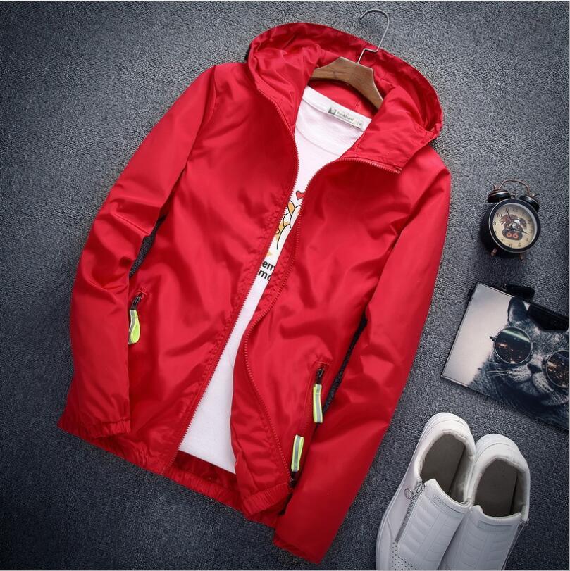 2019 New Waterproof Spring Long Jacket Fashion Casual Mens Bomber Jacket Coat  Long Sleeve Streetwear Mens Jackets