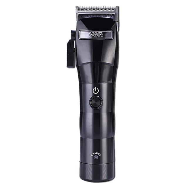 Vgr V 011 máquina de cortar cabelo elétrico carregamento barbeador aparador cabelo máquina corte plugue da ue