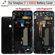 OnePlus 5T için pil kapağı arka kapı konut Case değiştirme OnePlus 5T için arka konut için bir artı 5T A5010 arka konut