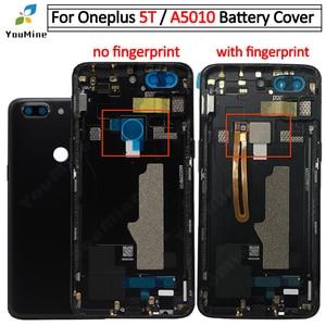 Image 1 - OnePlus 5T için pil kapağı arka kapı konut Case değiştirme OnePlus 5T için arka konut için bir artı 5T A5010 arka konut