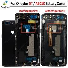 Pour OnePlus 5T couvercle de batterie porte arrière boîtier de remplacement pour OnePlus 5T boîtier arrière pour one plus 5T A5010 boîtier arrière