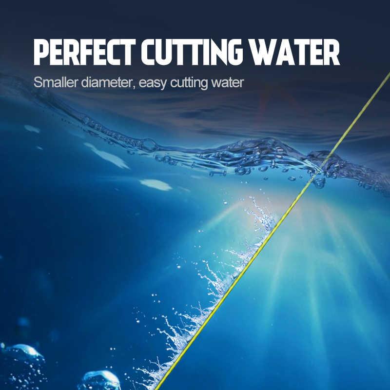 Línea trenzada Hunthous, 8 hilos, núcleos pe, multifilamento sedal de pesca de mimbre, cuerda de pesca 300m 500m 1000m para lubina