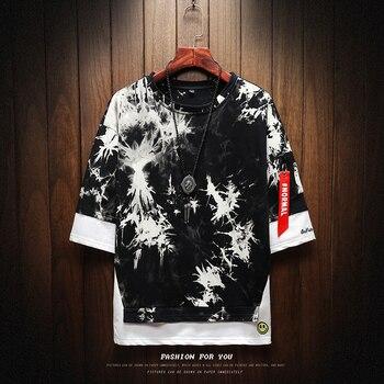 цена на T Shirt Men Harajuku Streetwear  Fashions Funny Tshirt Men  Half Sleeve Hip Hop T-Shirt Men  Summer