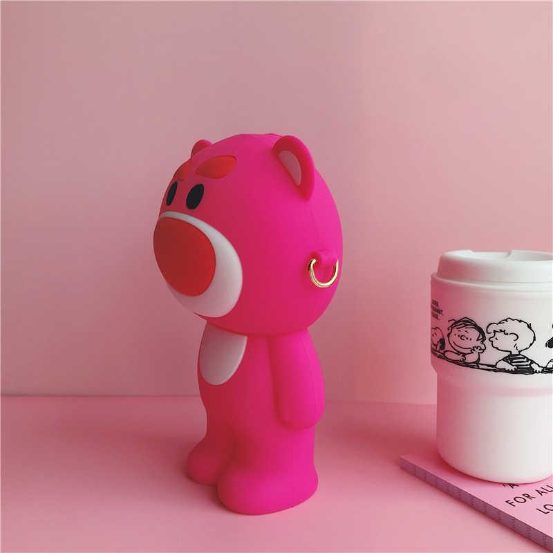 Estuche de maquillaje coreano de Gel de sílice de oso de dibujos animados, estuche cosmético suave para mujer, estuche de gran capacidad Kawaii, herramientas para maleta y papelería