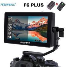 Feelworld F6 PLUS монитор из алюминиевого сплава 5,5 дюймов сенсорный экран монитор DSLR камера 4K микро одиночный дисплей