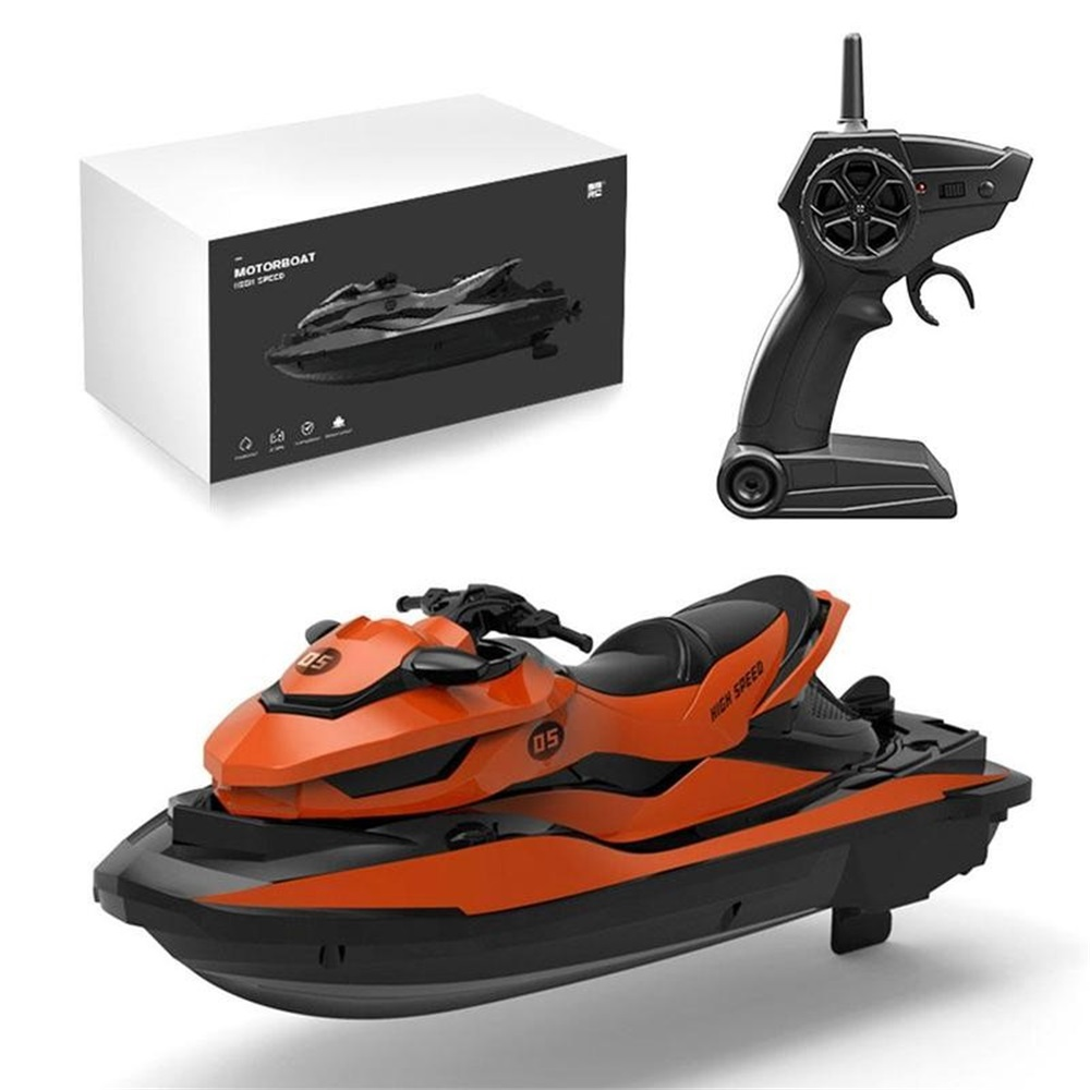 LM13-B 2.4GHz Remote Control Boat Kids Motorcycle Speedboat Creative High Speed RC Boats For Boys USB Charging Anti-collision