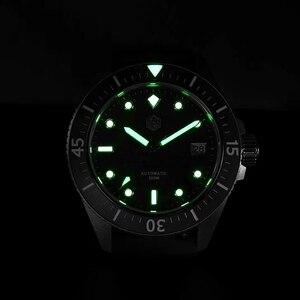 Image 5 - サンマーティン男性機械式腕時計サファイアガラス SEIKONH35 運動ステンレス鋼ダイビング腕時計