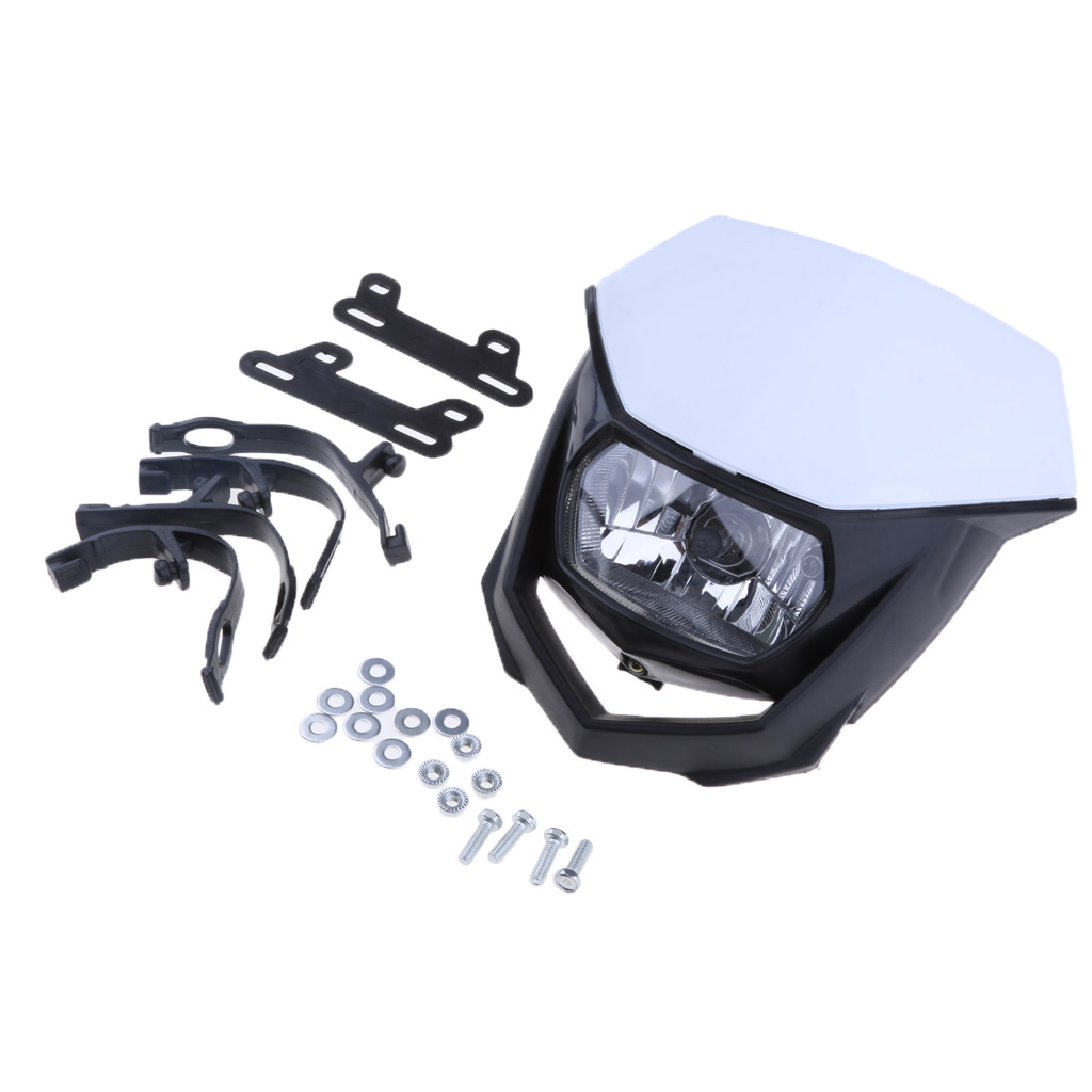 1 Piece Motorcycle Dirt Bike Headlight Lamp Headlamp Fairing Assembly for KTM CRF XR and 1Set Accessories