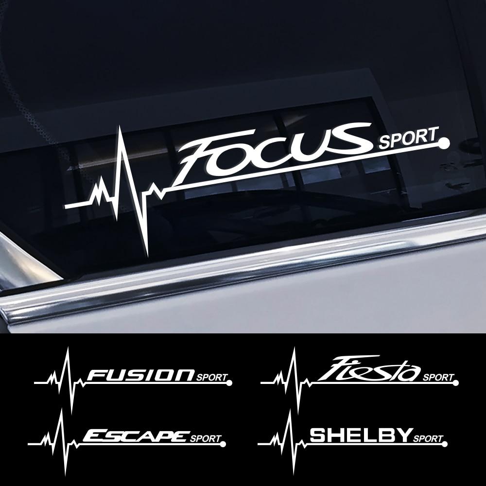 2PCS For Ford Focus 2 3 1 MK2 MK3 Fiesta Mondeo Fusion Explorer Escape Shelby Edge Ecosport Kuga Mustang Car Side Window Sticker