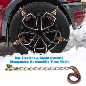 Universal Car Snow Chains Tyre Tire Wheel Anti-skid Chain Adjustable Wear-resistant Winter Ice Snow Mud Road Safe image