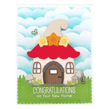 New Mushroom house decoration metal Cutting Dies Stencils DIY Scrapbooking Paper/photo Cards Embossing