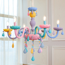 Candle-Lamp Rainbow European Colourful American-Girl Children's Princess Makaron