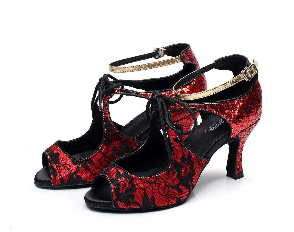 Slip Auf Jazz Salsa Ballsaal Latin Dance Schuhe Für Tanzen Frauen Tänzer Walzer Tango Tanzt Ferse 6201 Pumpen Sommer schwarz sandalen