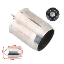 Universal motorcycle 60mm Removable Silencer Exhaust Pipe Muffler DB Killer Silver For Motorcycle