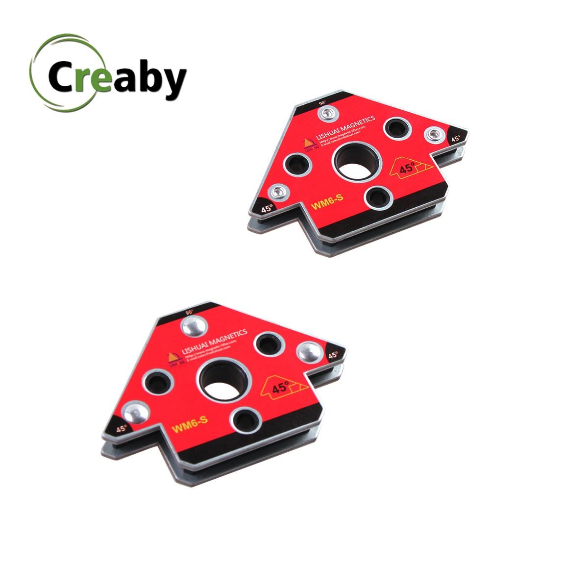 2pcs set Small  Arrow Welding Magnet Neodymium Magnetic Welding Holder Magnet Welding Clamp WM6-S