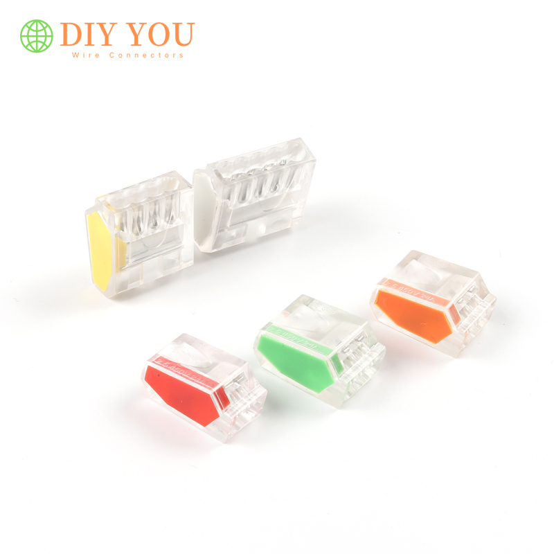 30/50/100PC Mini Fast Push-IN Terminal Block Universal Compact Wire Connector For Junction Box Conductor AWG PCT-252/253/254/255