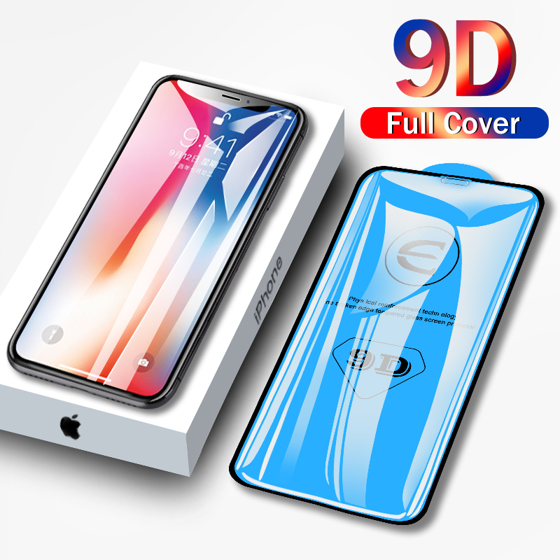 9D Protective Glass For IPhone 6 6S 7 8 Plus X XS 11 Pro MAX Glass On Iphone 7 6 8 Plus XR XS MAX 11 Pro MAX 11 Screen Protector