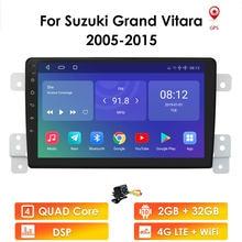 Araba kafa ünitesi Suzuki Grand Vitara için 3 2005 2012-2015 araba radyo multimedya Video oynatıcı navigasyon GPS Android 10 2 + 32 4G WIFI