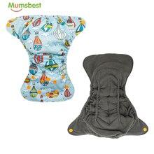 Стирающийся тканевый подгузник для новорожденных [Mumsbest] 2020, многоразовый, с вставкой, впитывающий экологичный подгузник, Товары для новорож...