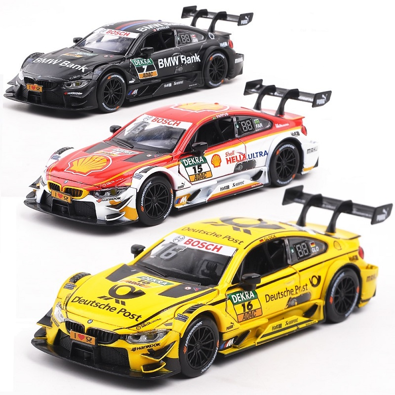 1:32 Diecast Alloy Car Model Toys For Bmw M4 M8 With Pull Back Function Light And Music Simulation Car Toys For Children Gift