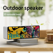 DOSSII F2 Wireless Bluetooth Speaker Waterproof Portable Column Subwoofer Stereo 3D Digital Sound Speaker,Suitable for Outdoor